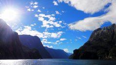 Temps magnifique dans le fjord de Milford Sound