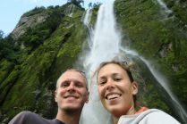 Selfie devant la Stirling falls