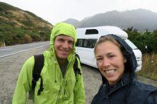 Motivés au départ de la rando de Isthmus peak, sous la pluie !