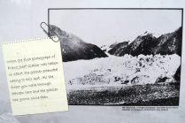 Une photo prise en 1867 montrant où se situait le glacier Franz Josef à cette époque... ça fait peur...