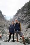 Selfie devant le glacier Franz Josef
