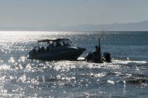 Dépose d'un taxi boat à la plage de Marahau