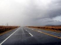 Sur la route vers le Tongariro National Park, sous l'orage...