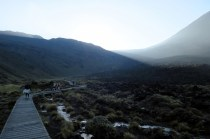 Tongariro Alping Crossing, sur le début, le soleil ne s'est pas encore montré !