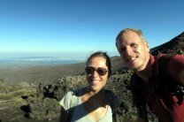Petit selfie devant un paysage lunaire ! Tongariro Alpine Crossing