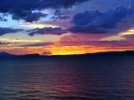 Petit coucher de soleil fort sympathique sur le lac Taupo