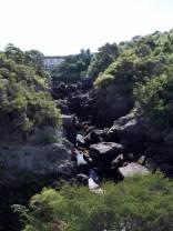La station hydroélectrique de Aratatia rapids avant le laché d'eau (en amont)
