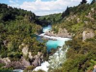 La station hydroélectrique de Aratatia rapids se remplissant d'eau progressivement (en aval)