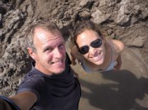 "Selfie dans notre ""trou"" à How Water Beach"