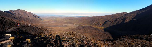 Première partie du Tongoriro Alpine Coossing - Panorama