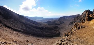 Panorama près du Red Crater