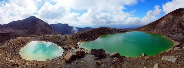 Panorama des Emerald Lakes