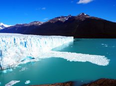 "Première vue sur la langue de glace (face ""nord"") du glacier Perito Moreno"