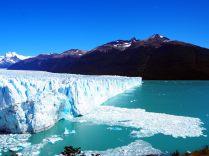 """La partie """"Nord"""" du front du glacier, droite comme un mur"""