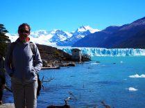 Elise devant le Perito Moreno