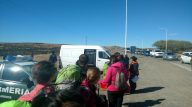 Contrôle de police à la sortie de El Calafate. Nous devons passer nos bagages dans ce camion scanner... Y a t-il au moins quelqu'un dedans ?!