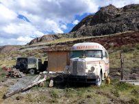 Un vieux bus à El Chalten