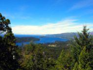 La vue depuis le haut du Cerro Campanario, Bariloche