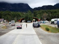 Poste de douane coté Argentin, sur la route vers Pucon