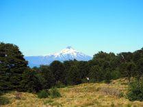 Vue sur le volcan Villarrica