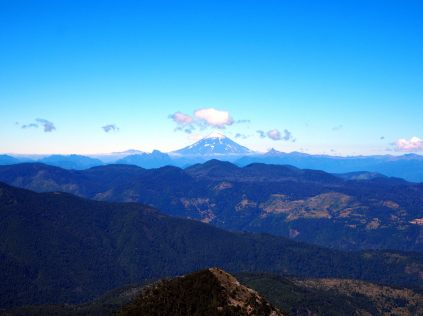 Volcan Villarrica au loin