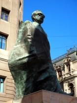 Statue de Salvador Allende, prés de la Moneda