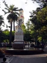 Sur la Plaza de Armas, Santiago du Chili