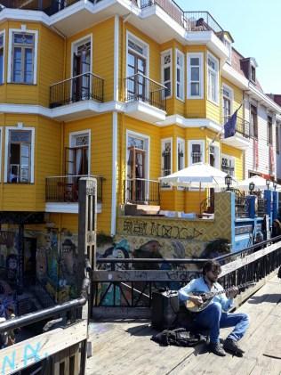 Maisons colorées à Valparaiso