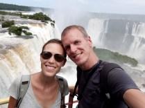 Selfie en haut des chutes