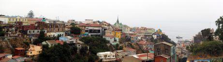 Panorama des maisons vue depuis un cerro de Valparaiso