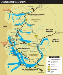 Carte de la route des 7 lacs