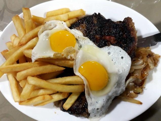 Petit steak à la chilienne ! Miam !!