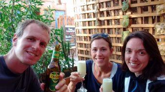 Un petit Rica Rica Sour et une Bière locale pour célébrer cette superbe journée