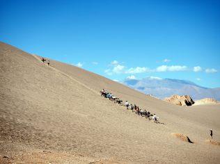 Sandboard à la Vallée de la Mort, 20 minutes de montée, 30 secondes de descente !