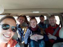 Notre équipage dans la Jeep !