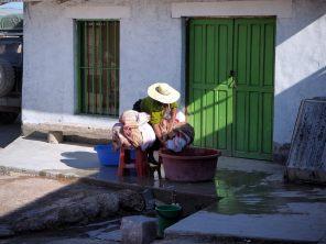 A Colchani, près d'Uyuni