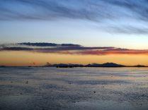 Salar d'Uyuni au coucher de soleil