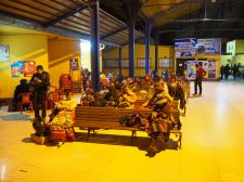 A notre arrivée au terminal de Bus de La Paz, au petit matin