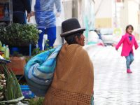 Une cholita, La Paz