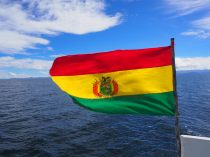 Drapeau Bolivien, lac Titicaca