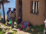 Habitants sur l'Isla de la Luna, lac Titicaca