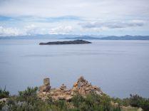 Vue depuis le haut de l'Isla del Sol