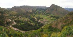 Paysage dans la vallée sacrée des Incas