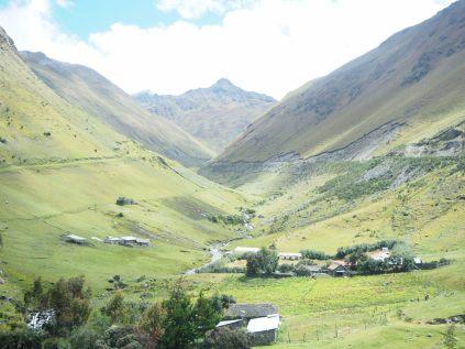 Paysages sur la route vers le Machu Picchu