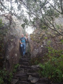 Sur le sentier qui monte en haut de la Montana, Machu Picchu