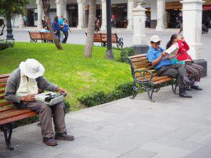 Sur la plaza de armas, Arequipa