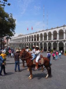 Rassemblement politique, Plaza de Arma, Aréquipa