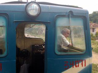 La loco du train de découverte de la vallée de los Ingenios
