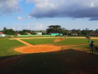 Terrain de baseball à Vinales