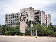 """Hommage à Ché Gevara, un des trois célèbres """"barbus"""" de la révolution cubaine"""